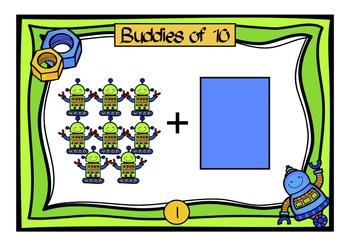 Buddies of 10 Robot Playdough Mats / Room Scoot