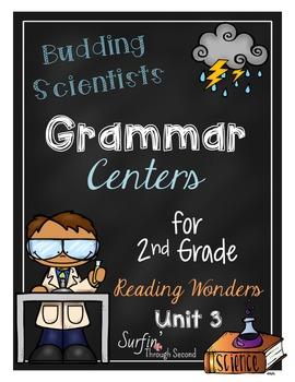 Budding Scientist Grammar Centers for Reading Wonders Unit 3 Grade 2
