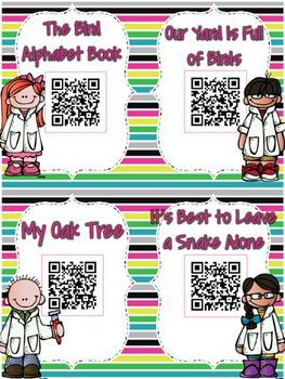 Budding Scientists QR Codes: 20 Science Stories for Daily Five Listen to Reading