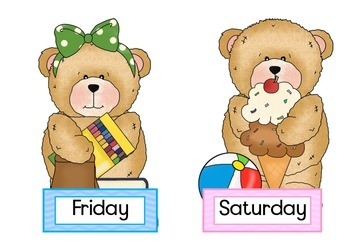 Buddy Bears Days of the week