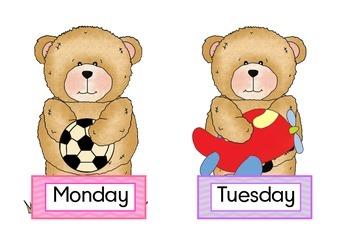 Buddy Bears Days of the week