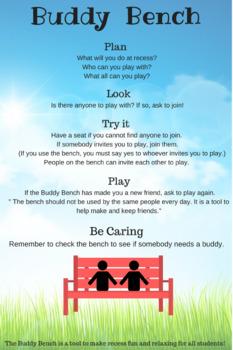Buddy Bench 1-Page Infographic