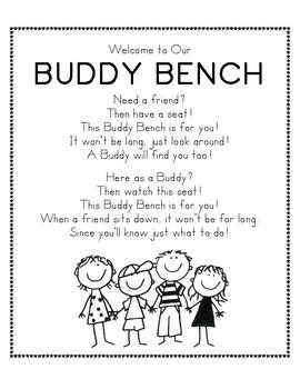 Buddy Bench Poem Sign