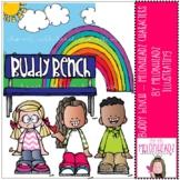 Buddy Bench clip art - Melonheadz Characters - Mini - by M