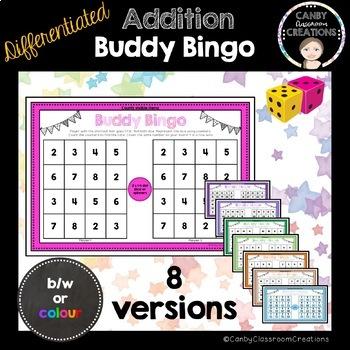 Buddy Bingo - Differentiated Dice Addition Game