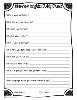 Buddy Biography Writing Project!