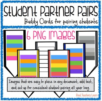 Buddy Cards for Partner Pairing {Colors}- a quick & easy way to pair students