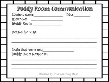 Buddy Communication Form