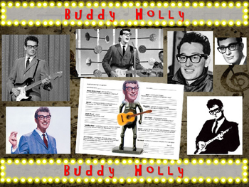 Buddy Holly: 25 slides with text, hyperlinks, primary sources, & handouts)
