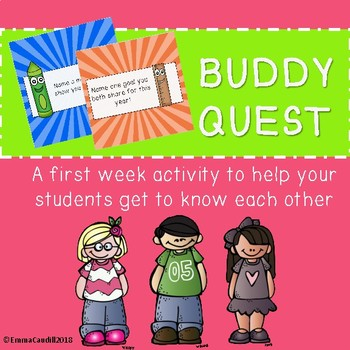 Buddy Quest - a get to know you activity