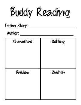 Buddy Reading Accountability Sheet FREEBIE
