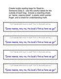 Buddy Reading Bag Materials- Great for 5 Daily Reading Centers