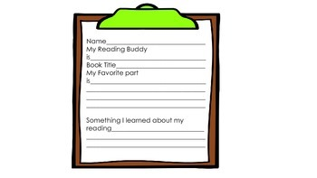 Buddy Reading Cards