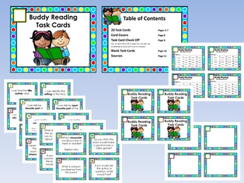 Buddy Reading Center Task Cards