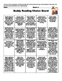 Buddy Reading Choice Board