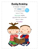 Buddy Reading Classroom Poster for Centers