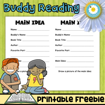 Buddy Reading: Finding the Main Idea Freebie