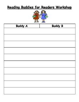 Buddy Reading Partnership List