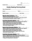 Buddy Reading Planning Form