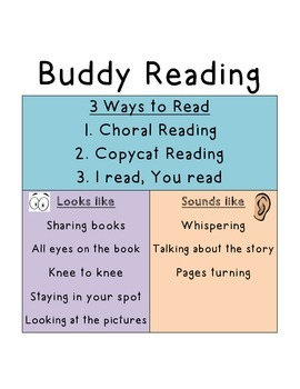 Buddy Reading T-Chart