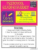 Reading Buddy Questionnaire and Log FREEBIE