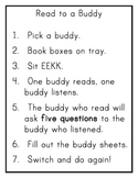 Buddy Reading - Read to Someone Poster