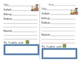 Buddy Reading Response Form Printable