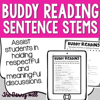 Buddy Reading Sentence Starters and Frames