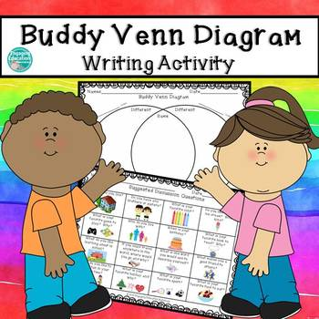 Buddy Venn Diagram Writing Activity