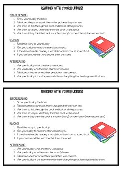 Buddy reading guide for students