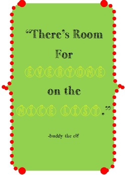 Buddy the Elf Quote Printable