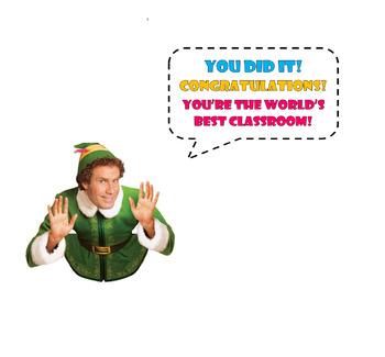 Buddy the elf classroom display