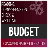 Introducing Budget Reading Passage - Consumer Math Special