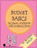 Budget Basics- Decimal Operations