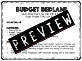 Budget Bedlam Card Game
