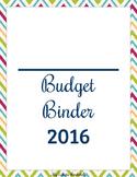 Budget Binder 2016