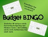 Budget Bingo Review Game