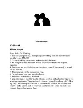 Budgeting Real Life Events Bundled Unit: Wedding,Prom,Summer Vacation & College