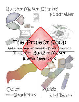 Budget Maker Project: Montessori Middle School Math Intege