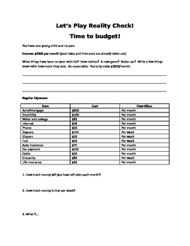 Budget Packet