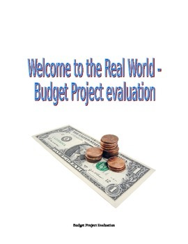 Budget Project Student Reflection/Evaluation
