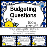 Budget Questions Boom Cards--Digital Task Cards