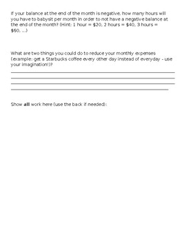 Budget Task