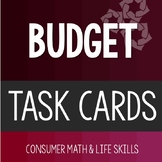 Budget Task Cards High School Special Education