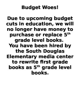 Budget Woes! A Grammar Project