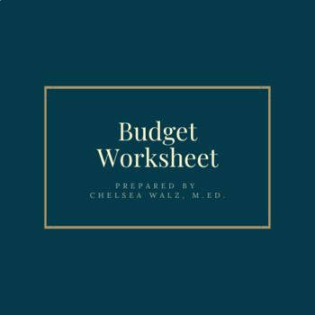 budgeting worksheets teaching resources teachers pay teachers