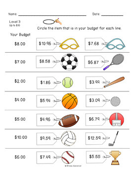 Budget Worksheets - Do you have Enough Money? Life Skill Math for ...