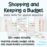 Budget Worksheets - Do you have Enough Money? for Special Education