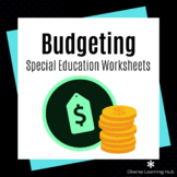 Budget Worksheets for Special Education - Distance Learning