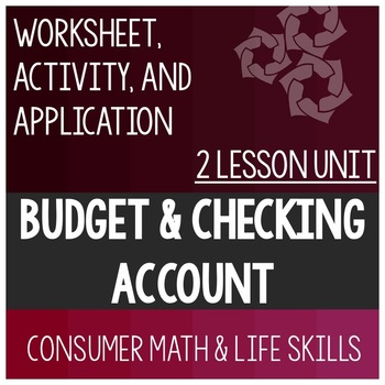 Budget and Checking Account Lessons Bundle